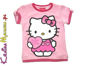 T-shirt Hello Kitty jasnoróżowy